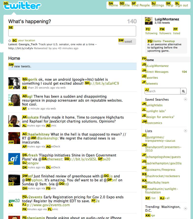 Vimium Twitter